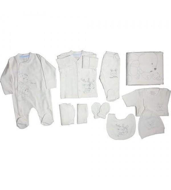 Aziz Bebe 10125 Organik Kız Bebek 10 Lu Hastane Çıkışı Set Takım