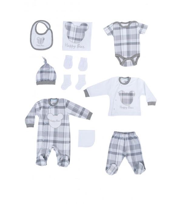 Aziz Bebe AZI010203 Erkek Bebek 10'Lu Set