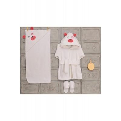Bebıtof 30025  0-3 Yaş Bebek Bornoz Takımı