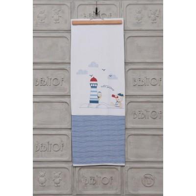 Bebitof 95045 Denizci Battaniye-Beyaz