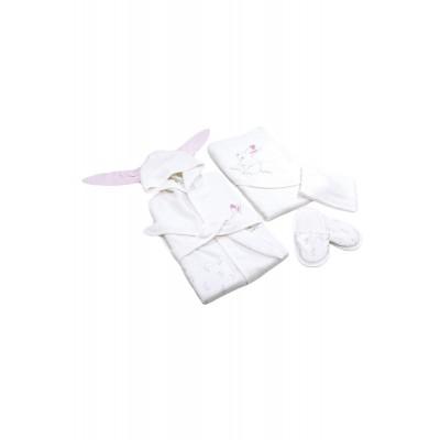 Bi Organik 66199 Rabbit Girl 4 Lü Bornoz Seti