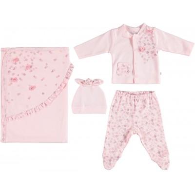 Bibaby 62130 Pink Clover Battaniyeli Tüllü 4 Lü Set
