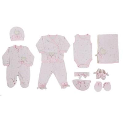 Eda Baby Kalp Baskılı 10 Lu Hastane Çıkış Seti 7718