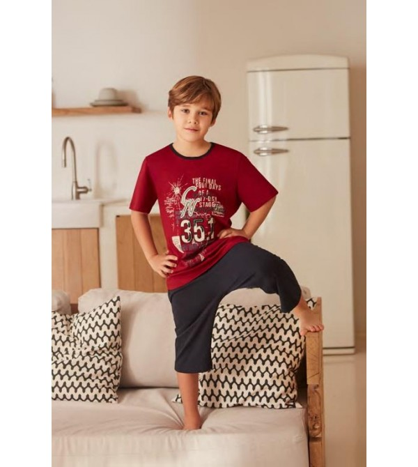 Feyza 3215 Erkek Çocuk Kapri Pijama Takım