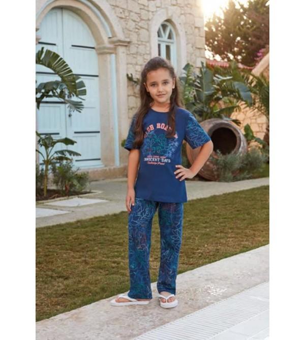 Feyza 3218 Kız Çocuk Kısa Kol Pijama Takım