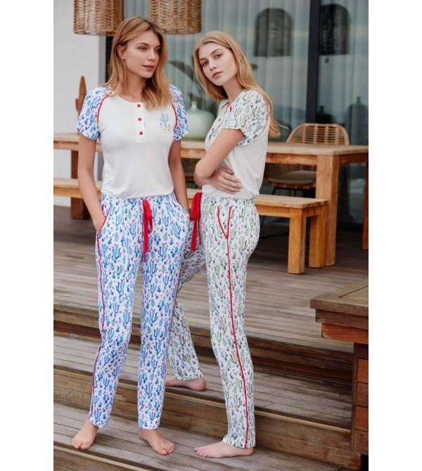 Feyza 3430 Bayan Pijama Takımı