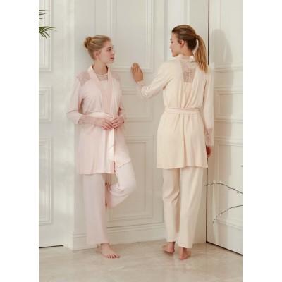 Feyza 3437 Feyzanur Bayan 3 Lü Pijama Takımı