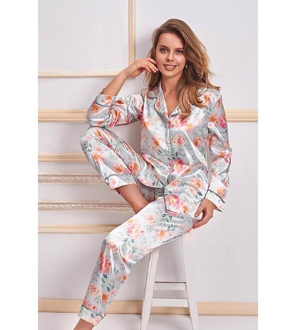 Nurteks 5654 Kadın 2'li Saten Pijama Takımı