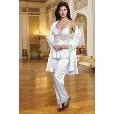 Nurteks 5921 3'lü Saten Pijama Takım