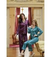 Nurteks 5656 Kadın 2'Li Saten Pijama Takımı