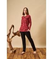 PJS 21829 Kadın Patlı Desenli Pijama Takım
