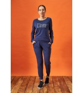 PJS 21872 Kadın Yuvarlak Yaka Spor Pijama Takım