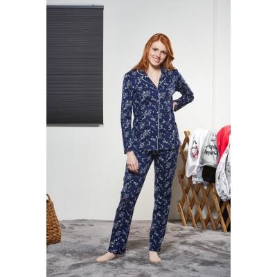 PJS Kadın Düğmeli Pijama Takımı Pjs21137