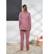 PJS Kadın Düğmeli Pijama Takımı Pjs21148