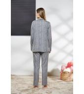 PJS Kadın Düğmeli Pijama Takımı Pjs21166