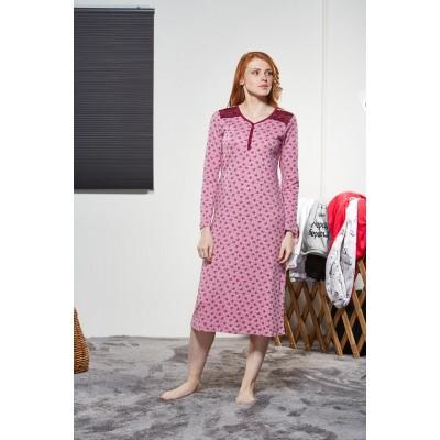 PJS Kadın Düğmeli Gecelik Pjs21155