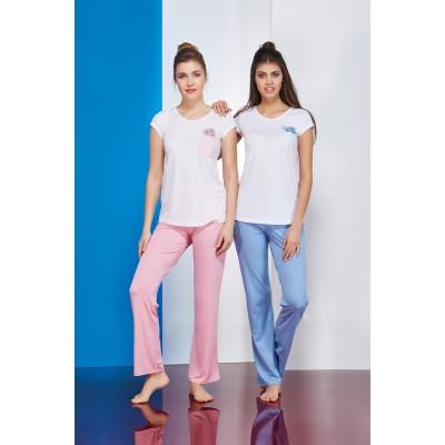 PJS Bayan Pijama 2 Li Takım 20712