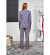 PJS Kadın Düğmeli Pijama Takımı Pjs21123