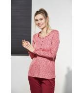 PJS Kadın Düğmeli Pijama Takımı Pjs21151