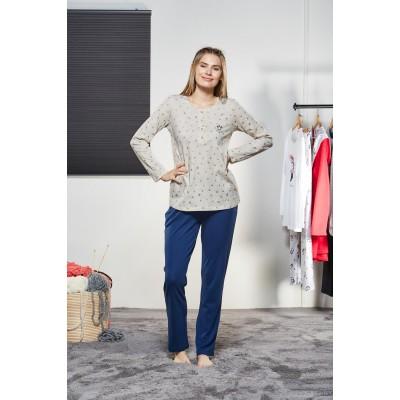 PJS Kadın Düğmeli Pijama Takımı Pjs21162