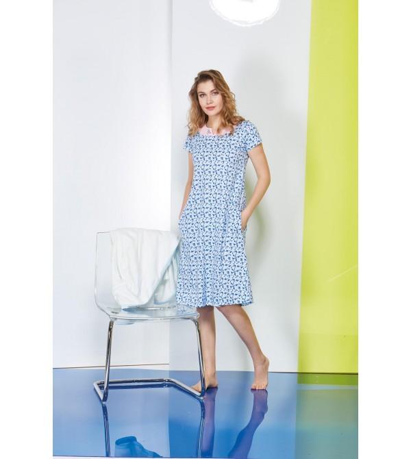 PJS Empirme Desen Cepli Bayan Elbise 20614
