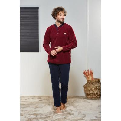 PJS Erkek Düğmeli Pijama Takımı Pjs21330