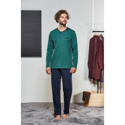 PJS Erkek Düğmeli Pijama Takımı Pjs21323
