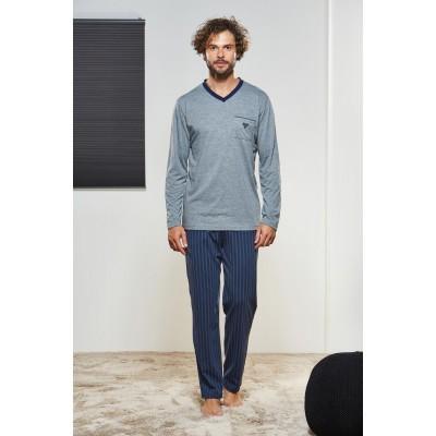 PJS Erkek Düğmeli Pijama Takımı Pjs21326