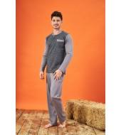 PJS 21703 Erkek Jakarlı Patlı Pijama Takımı