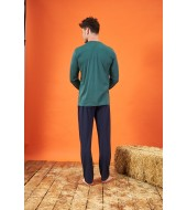 PJS 21714 Erkek Modal Patlı Pijama Takımı