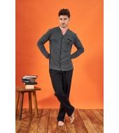 PJS 21715 Erkek Düğmeli Pijama Takımı