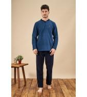 PJS 21710 Erkek Patlı Polar Pijama Takımı