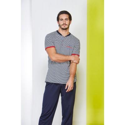 PJS Patlı Çizgili Erkek Pijama 2 Li Takım 20823