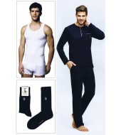 U.S. Polo 17394 Erkek Pijama Takımı Atlet-Boxer-Çorap