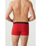 U.S. Polo 80336 3'Lü Erkek Boxer Lacivert-Kırmızı-Grimelanj