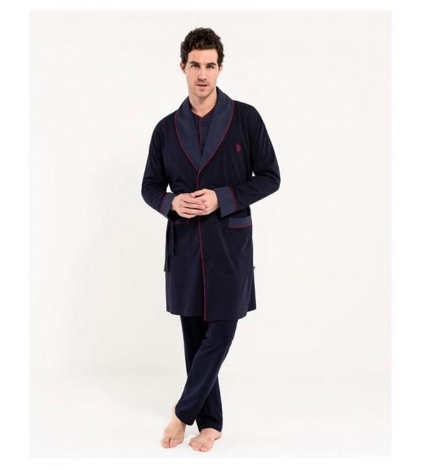 U.S. Polo Assn. Erkek Damat Çeyiz Pijama Takımı Robdöşambır 12001