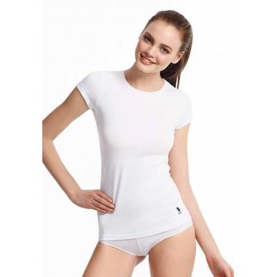 U.S. Polo Assn 66002 Bayan Kısa Kollu Yuv-Yaka T-Shirt