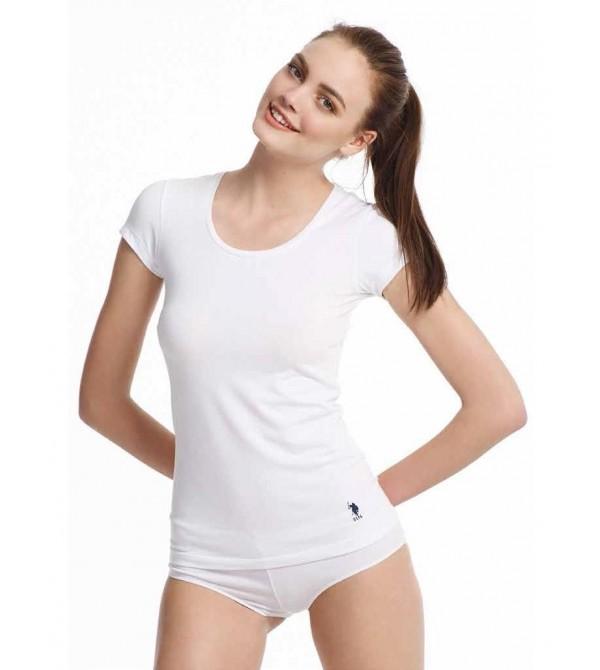 U.S. Polo Assn 66003 Bayan Derin Yuvarlak Yaka T-Shirt