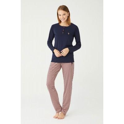 U.S. Polo Assn. Kadın Patlı Pijama Takımı 16390
