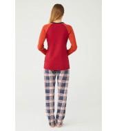 U.S. Polo Assn. Kadın Yuvarlak Yaka Pijama Takımı 16370