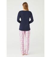 U.S. Polo Assn. Kadın Yuvarlak Yaka Pijama Takımı 16404