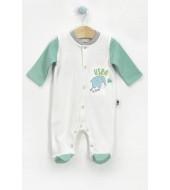 U.S Polo Assn Lisanslı My Jungle Krem Nil Yeşili Erkek Bebek 10'Lu Hastane Çıkışı