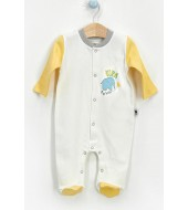 U.S Polo Assn Lisanslı My Jungle Krem Sarı Erkek Bebek 10'Lu Hastane Çıkışı