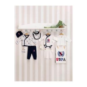U.S. Polo Assn Lisanslı Erkek Bebek 10'Lu Hastane Çıkış Seti Usb109