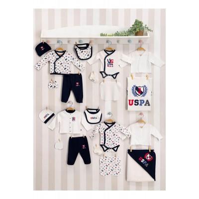 U.S. Polo Assn Lisanslı Erkek Bebek 20'Li Hastane Çıkış Seti Usb110