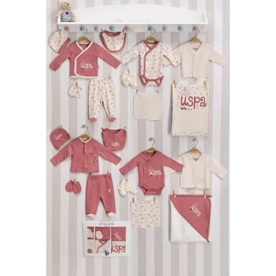 U.S. Polo Assn Lisanslı Bebek 20'Li Hastane Çıkış Seti USB003