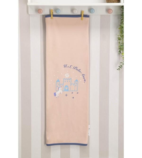 U.S. Polo Assn Lisanslı Somon Kız Bebek Battaniye 75x85 Usb033