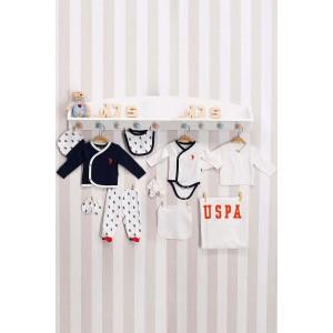 U.S. Polo Assn Lisanslı Lacivert Bebek 10'Lu Hastane Çıkış Seti Usb127