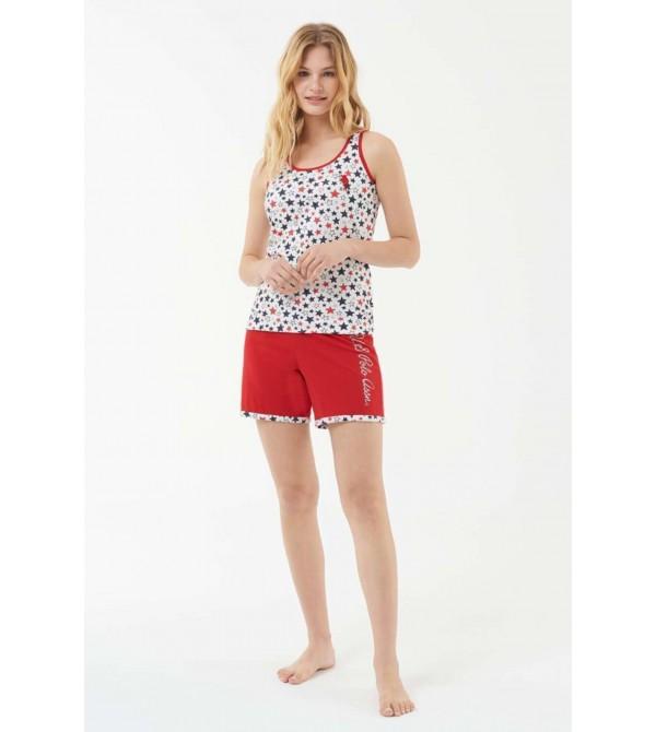 US Polo Assn 16539 Kadın Atlet Şort Takım