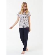 U.S. Polo Assn. 16541  Kadın Boydan Patlı Pijama Takım